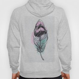 AP078 Watercolor feather Hoody