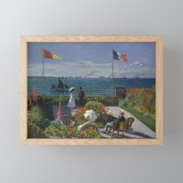 Claude Monet - Garden at Sainte-Adresse (1867) Framed Mini Art Print