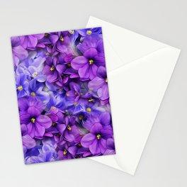 Violets in my garden, digital flower print Stationery Cards