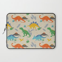 Jurassic Dinosaurs in Primary Colors Laptop Sleeve