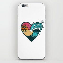 Wave Heart iPhone Skin