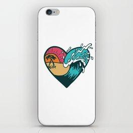 Wave Heart iPhone Skin