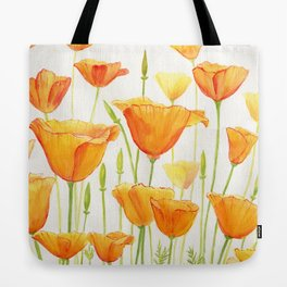 Blossom Poppies Tote Bag
