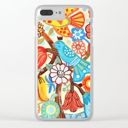 Pop Flowers Clear iPhone Case