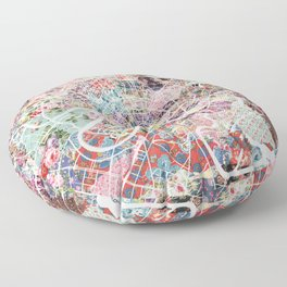 Moscow map Floor Pillow