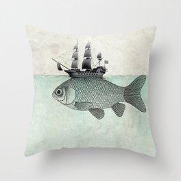 Voyage Goldfish Throw Pillow
