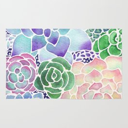 Masked Flora Collection Succulents Rug