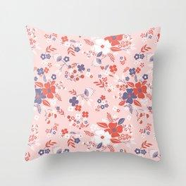 Wild Flowers III Throw Pillow