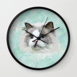Pretty Cat Wall Clock