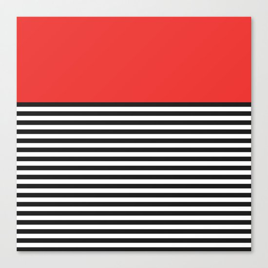 STRIPE COLORBLOCK {POPPY RED} Canvas Print