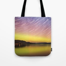 Aurora at Flat Head Lake Tote Bag