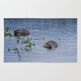 Beavers at Breakfast Rug