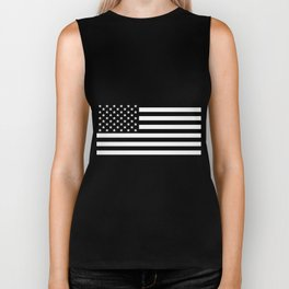 Black And White Stars And Stripes Biker Tank