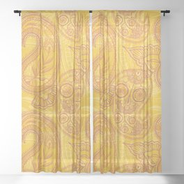 Paisley Juice Sheer Curtain