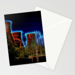 Digital Art Ironbridge Power Station Stationery Cards