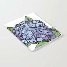 Hydrangea Blue Notebook