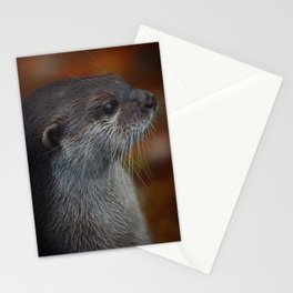 Otter Profile Stationery Cards