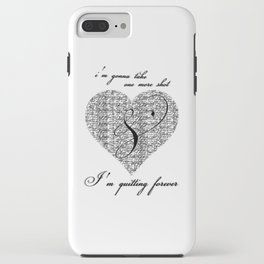Cross my heart, cross my fingers. iPhone Case