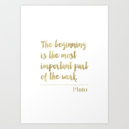 Golden Plato quote Art Print