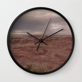Desert Rain Clouds Wall Clock