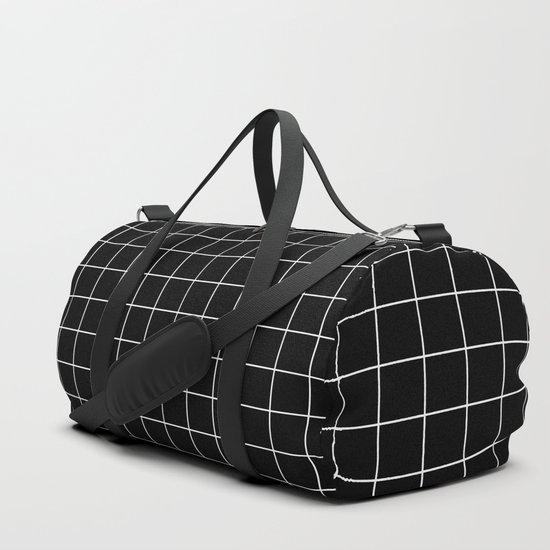 Grid Line Stripe Black and White Minimalist Geometric by beautifulhomes