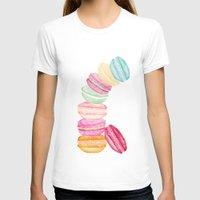 macarons T-shirts featuring MACARONS & STARS  by Monika Strigel