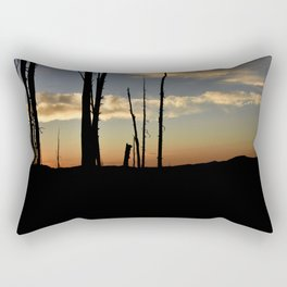 sunset silhouettes Rectangular Pillow