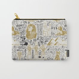 Seamless pattern on the Ancient Egypt theme with unreadable notes Carry-All Pouch