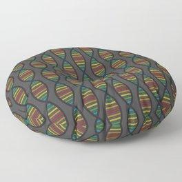 Rainbow DNA Floor Pillow