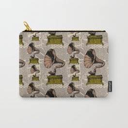 Gramophone Player Steampunk Style Newspaper  Carry-All Pouch