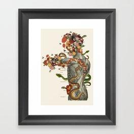 Serpens - Anatomical collage art by bedelgeuse Framed Art Print