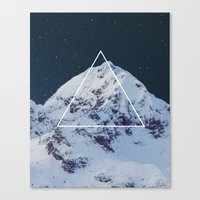 geology Canvas Prints featuring Geometry vs. Geology by The Confetti Yeti