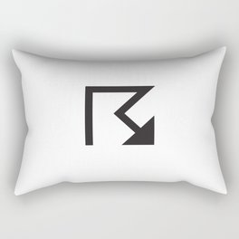 Arrow non-secular mark. Rectangular Pillow