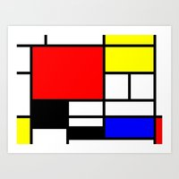 mondrian Art Prints featuring Mondrian by  Can Encin
