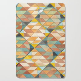 Triangles and Circles Pattern no.23 Cutting Board