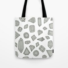 doodle crystals on white Tote Bag