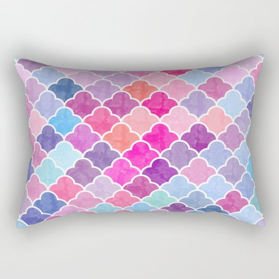 Watercolor Lovely Pattern CII Rectangular Pillow