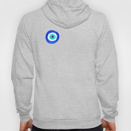 Single Evil Eye Amulet Talisman Ojo Nazar - on white Hoody