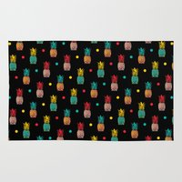 pineapples Area & Throw Rugs featuring Pineapples! by Rendra Sy
