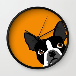 Peeking Terrier funny dog art customizable gift for dog lovers dog person must haves Wall Clock