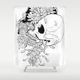 Skull (Pushing Up Daisies) Shower Curtain