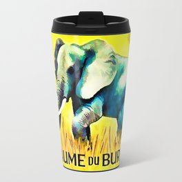 Elephant in the yellow field Travel Mug