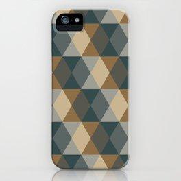 Caffeination Geometric Hexagonal Repeat Pattern iPhone Case