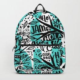 hello ni hao ciao konnichiwa Backpack
