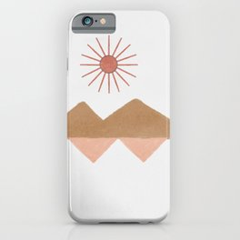 Desert view - simplification of long distance space iPhone Case