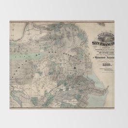 Map of San Francisco 1869 Throw Blanket
