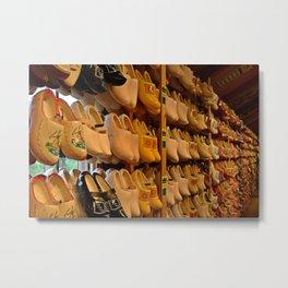 Wooden Shoes Metal Print