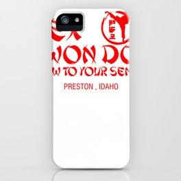 Rex Kwon Do bow to your sense! Preston, Idaho iPhone Case