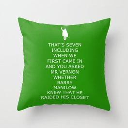 Keep Calm in Detention 2 Throw Pillow