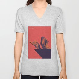 Futuristic Monuments Of Old Yugoslavia Unisex V-Neck